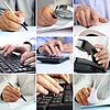 Composite-Geschäftsleute, die auf Büro- | Stock Foto