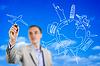 ID 4034457 | Młody mężczyzna rysunek wyimaginowanej Latanie samolotem | Foto stockowe wysokiej rozdzielczości | KLIPARTO