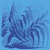 Streszczenie kwiatowy wzór w kolorze niebieskim | Stock Vector Graphics