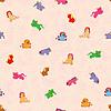 Nahtloses Muster von Spielzeugen