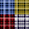 Vier nahtlose Muster karierten Schottenmuster