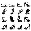 Satz von verschiedenen Modellen von stilvollen Frauen Schuhe