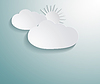 추상 3D 종이 구름   Stock Vector Graphics