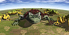 用青蛙的生态抽象 | 免版税照片