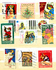 ID 4286223 | Collection of Christian postage stamps | 높은 해상도 사진 | CLIPARTO