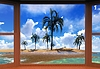 ID 4321525 | Sonnenuntergang auf Hawaii | Illustration mit hoher Auflösung | CLIPARTO