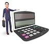 Calculator Businessman Indicates Executive | Stock Illustration