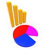 Gráfico Informe muestra cuadros, gráficos e Infochart | Ilustración