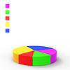 Indica el gráfico de sectores y gráficos del informe financiero | Ilustración