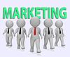 Marketing Businessmen Indicates Businessman Media | Stock Illustration