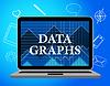 Diagrama estadístico Los datos gráficos medios y Bytes | Ilustración