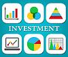 Cartas de la inversión Muestra el gráfico de asunto y de las previsiones | Ilustración