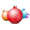 Spielzeug und Dekorationen für Weihnachtsbaum, | Stock Vektrografik
