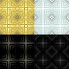 Black and white geometric monochrome seamless | Stock Vector Graphics