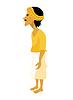 Inder stilisiert Mann in gelb