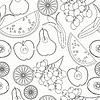 nahtlose Muster Färbung Fruchtwassermelone,
