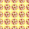 nahtlose Muster mit Pizzen auf den Tischen