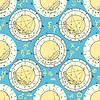 nahtlose Muster von Natal Horoskop, zodia