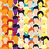 nahtlose Muster ein Mann, eine Frau, Mädchen, Sportler, Lehrer
