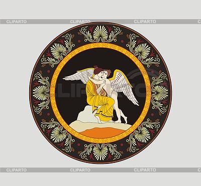 Rundes antikes etruskisches dekoratives Muster | Stock Vektorgrafik |ID 3771909