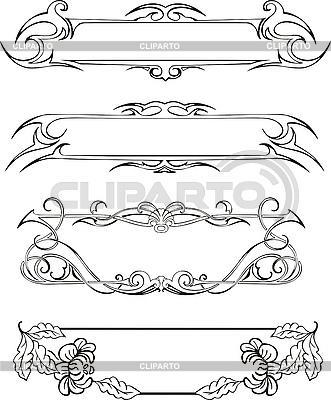 Slim panele dekoracyjne | Klipart wektorowy |ID 3000328