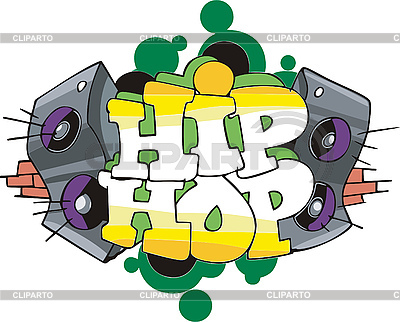 Hip Hop Graffiti-Design | Stock Vektorgrafik |ID 3000389
