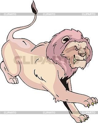 Aggressive Löwe läuft | Stock Vektorgrafik |ID 3000436