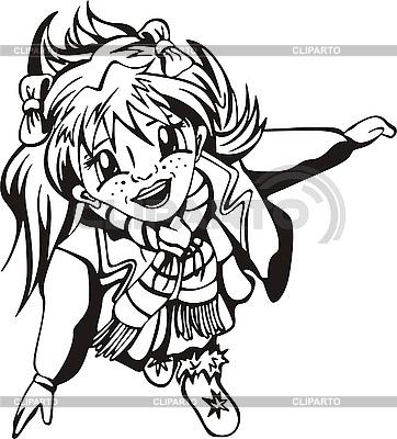 Glückliches junges Mädchen | Stock Vektorgrafik |ID 3000462