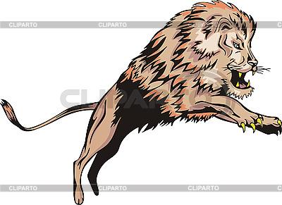 Löwe springt | Stock Vektorgrafik |ID 3000502