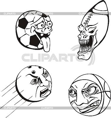 Emotionale Ball-Cartoons | Stock Vektorgrafik |ID 3000523