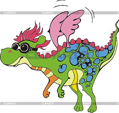 Fliegender faszinierender Drachen Cartoon | Stock Vektorgrafik |ID 3000598