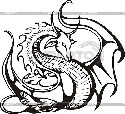 Восстающий дракон | Векторный клипарт |ID 3267563