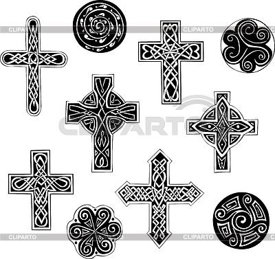 Keltische Knoten - Kreuze und Spiralen | Stock Vektorgrafik |ID 3269545