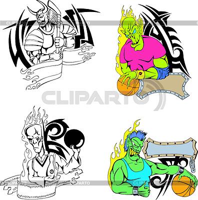Sport Monster Vorlage | Stock Vektorgrafik |ID 3269705