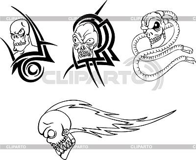 Skull Tattoos | Klipart wektorowy |ID 3269781