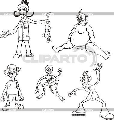 Różne postaci z kreskówek | Klipart wektorowy |ID 3295844