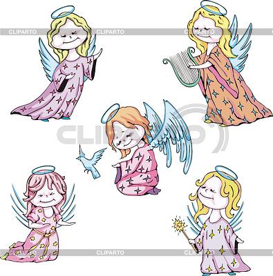 Dzieci aniołów | Klipart wektorowy |ID 3348638