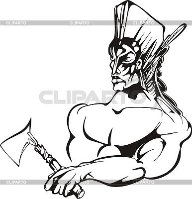 Indianischer Krieger | Stock Vektorgrafik |ID 3758628