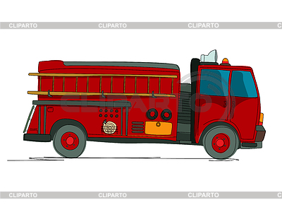 Feuerwehrfahrzeug cartoon | Stock Vektorgrafik |ID 3814316