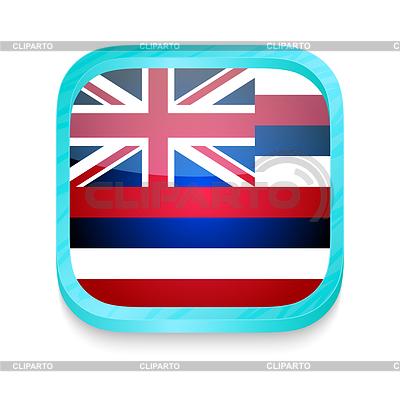 Smart phone button with Hawaii flag | Stockowa ilustracja wysokiej rozdzielczości |ID 3919973