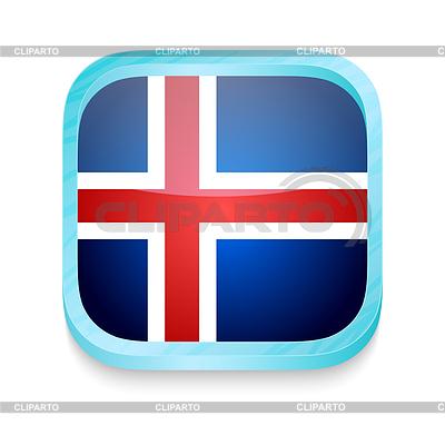 Smartphone-Taste mit Island-Flagge | Illustration mit hoher Auflösung |ID 3919977