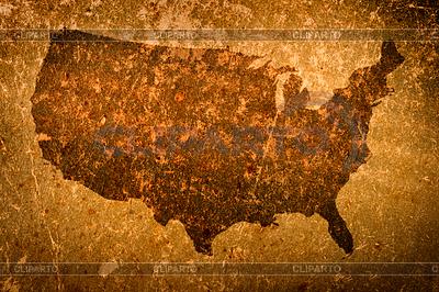 Alte Grunge-Landkarte von USA | Foto mit hoher Auflösung |ID 3910306