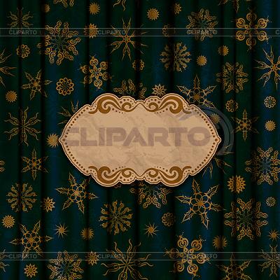 Gold Schneeflocken auf blauem Hintergrund | Stock Vektorgrafik |ID 4019537