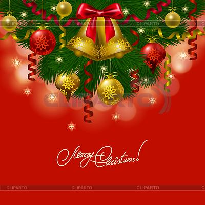 Hintergrund mit Kugeln, Weihnachtsbaum | Stock Vektorgrafik |ID 4072175