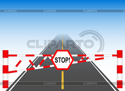 остановка перед знаком стоп на белом фоне