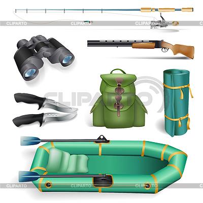 Fischerei und Jagd Objekte | Stock Vektorgrafik |ID 3779909