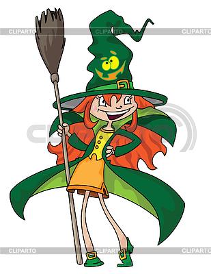 Witch uroczy | Klipart wektorowy |ID 3961512