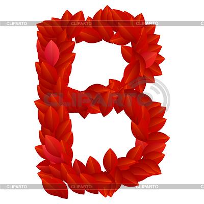 Buchstabe B der roten Blütenblätter Alphabet | Stock Vektorgrafik |ID 3769791