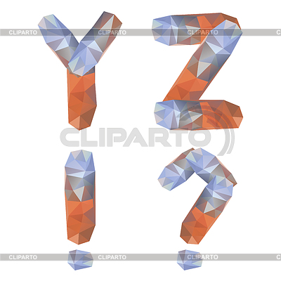 Geometrische Kristall Alphabet | Stock Vektorgrafik |ID 4011880