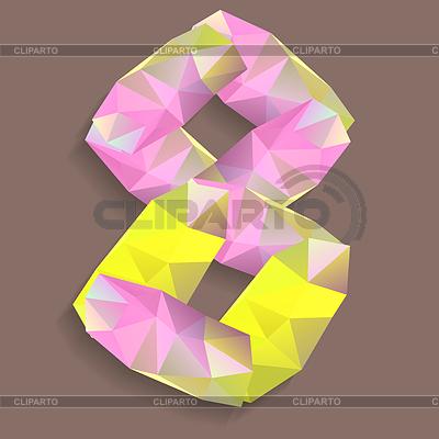 Geometrische Kristall stellige | Stock Vektorgrafik |ID 4076051